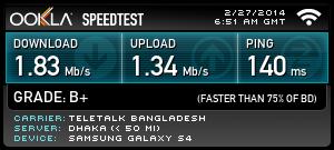 Teletalk 3G 1 Mbps speed test review – sarja's blog